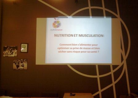 Conférence nutrition et musculation