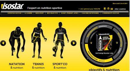 alimentation sportive isostar