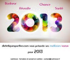 Vœux 2013 de dietetiquesportive.com
